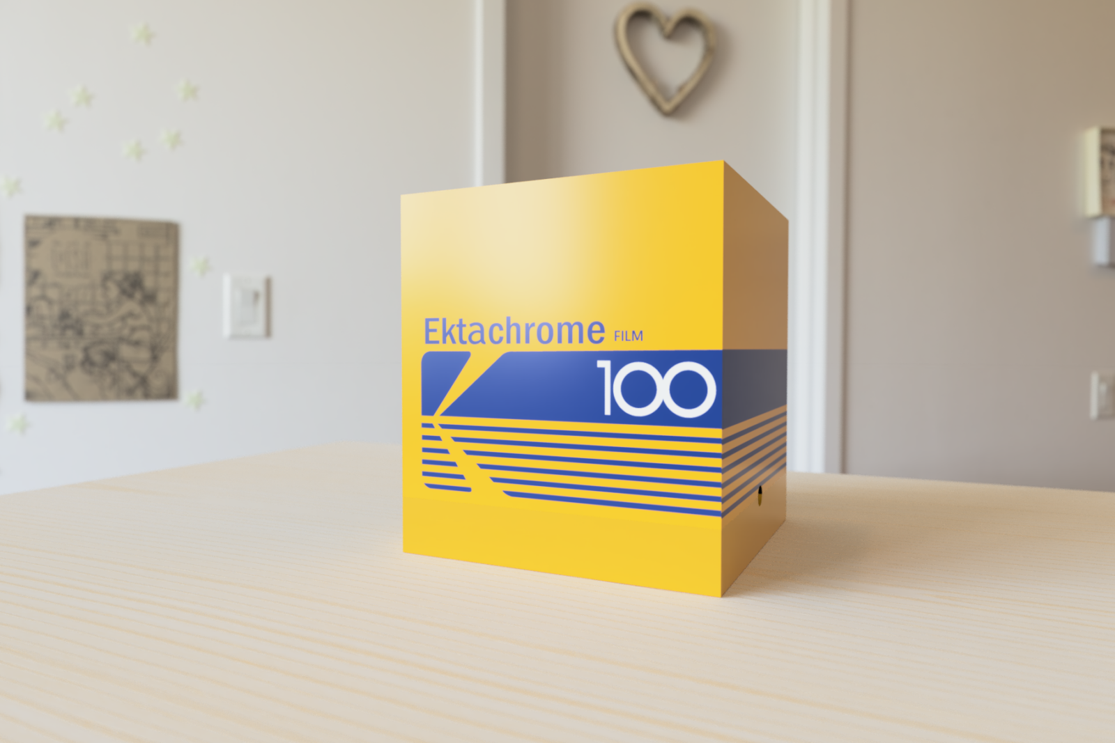 A retro themed box that holds all the equipment needed for film developing and scanning.